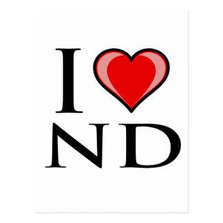 I Love ND - North Dakota Postcard
