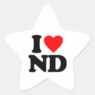 I LOVE ND STAR STICKER