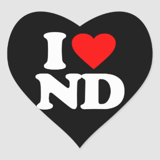 I LOVE ND HEART STICKERS