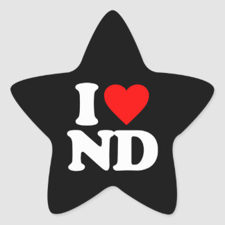 I LOVE ND STICKERS