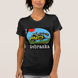 I Love Nebraska Country Taxi T-Shirt