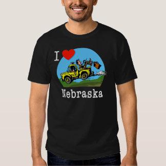 I Love Nebraska Country Taxi T Shirts