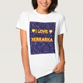 I love nebraska fire and flames t-shirt