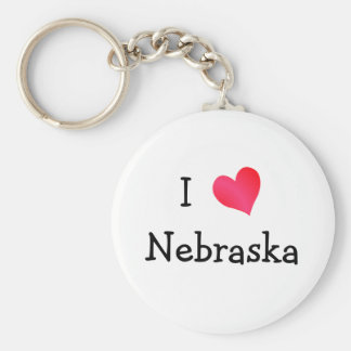 I Love Nebraska Key Ring