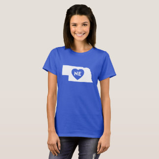 I Love Nebraska State Women's Basic T-Shirt