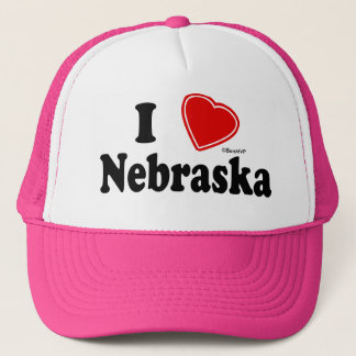 I Love Nebraska Trucker Hat
