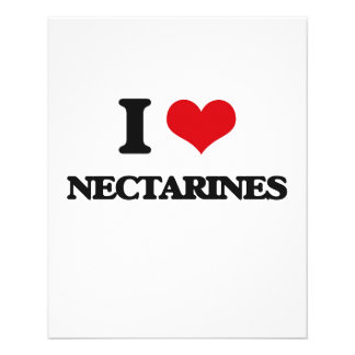 I Love Nectarines 11.5 Cm X 14 Cm Flyer
