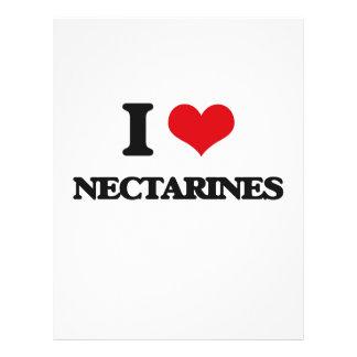I Love Nectarines 21.5 Cm X 28 Cm Flyer