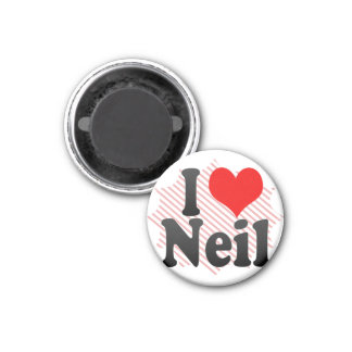 I love Neil 3 Cm Round Magnet