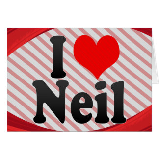 I love Neil Stationery Note Card