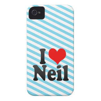 I love Neil iPhone 4 Case-Mate Cases