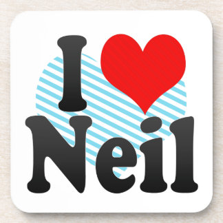 I love Neil Drink Coaster
