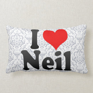 I love Neil Throw Pillow