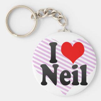 I love Neil Key Chains