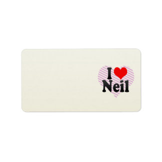 I love Neil Address Label