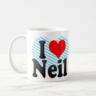 I love Neil Classic White Coffee Mug