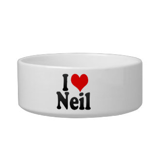 I love Neil Cat Bowls