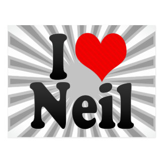 I love Neil Postcard