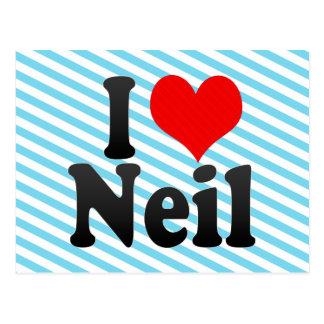 I love Neil Post Card