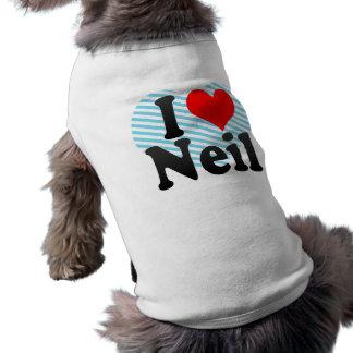 I love Neil Sleeveless Dog Shirt