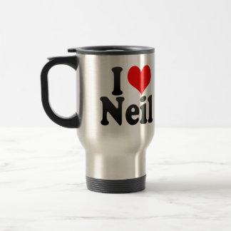 I love Neil Stainless Steel Travel Mug