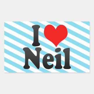 I love Neil Rectangular Sticker