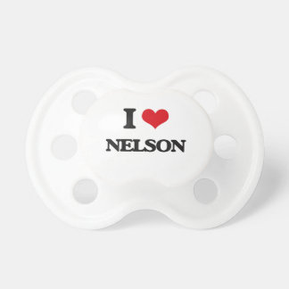 I Love Nelson Pacifiers