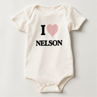 I Love Nelson (Heart Made from Love words) Romper