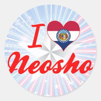 I Love Neosho Missouri Stickers
