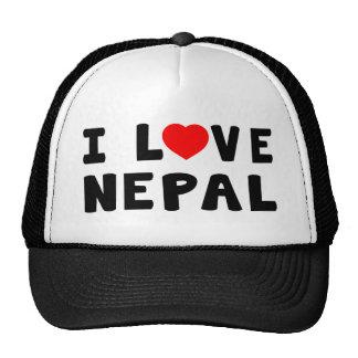 I Love Nepal Mesh Hats