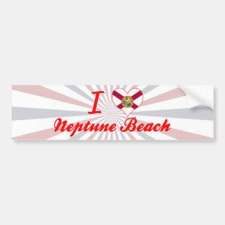 I Love Neptune Beach, Florida Bumper Sticker