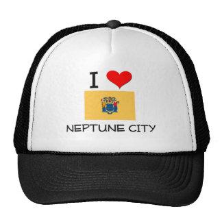 I Love Neptune City New Jersey Mesh Hats