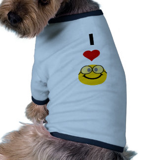 I love nerds doggie shirt