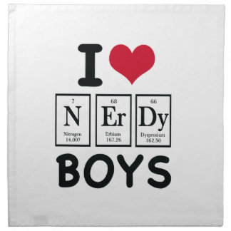I LOVE NERDY BOYS CLOTH NAPKIN