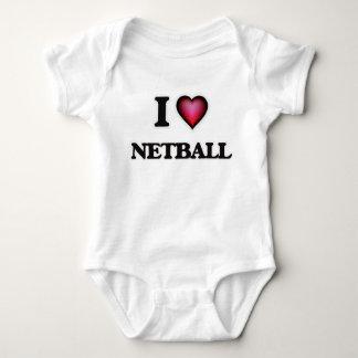 I Love Netball Baby Bodysuit