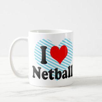 I love Netball Basic White Mug
