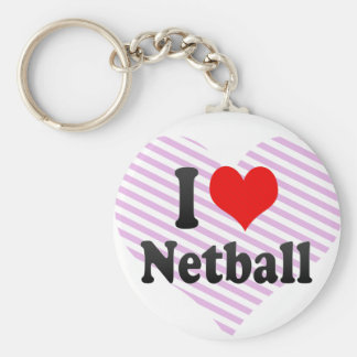 I love Netball Key Ring