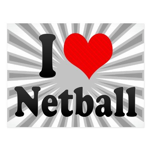 I love Netball Postcard