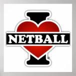 I Love Netball Poster