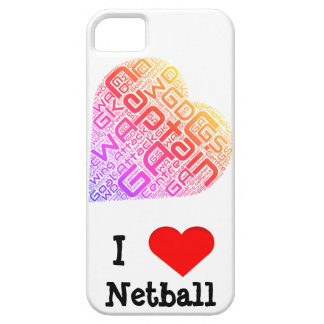 I Love Netball Word Art Design iPhone 5 Covers