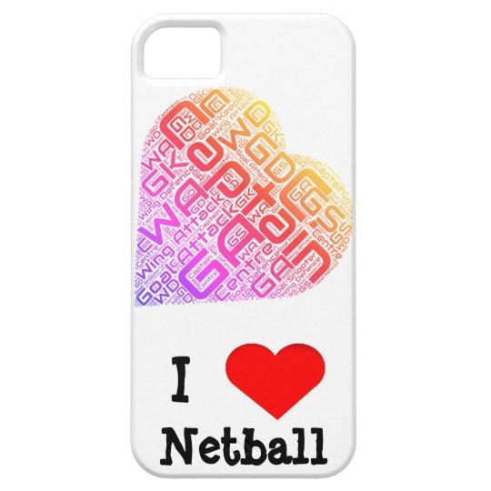 I Love Netball Word Art Design iPhone 5