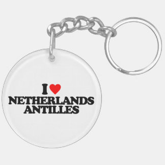 I LOVE NETHERLANDS ANTILLES ACRYLIC KEYCHAINS