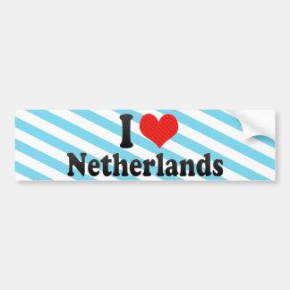 I Love Netherlands Bumper Sticker