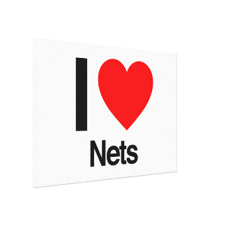 i love nets gallery wrap canvas