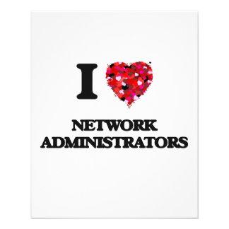 I love Network Administrators 11.5 Cm X 14 Cm Flyer