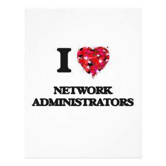 I love Network Administrators 21.5 Cm X 28 Cm Flyer