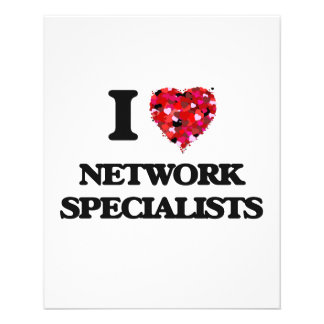 I love Network Specialists 11.5 Cm X 14 Cm Flyer