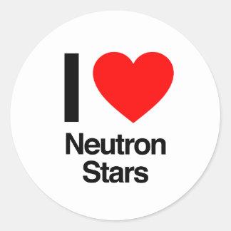 i love neutron stars round stickers