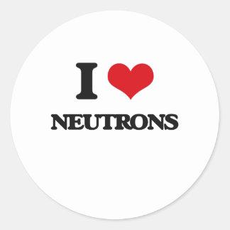 I Love Neutrons Round Sticker