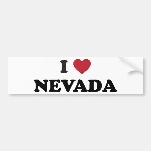 I Love Nevada Bumper Sticker